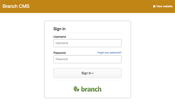 New Design For The Admin Login Page Blog Branchcms