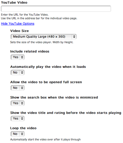 YouTube Video Attribute | Branch CMS Documentation