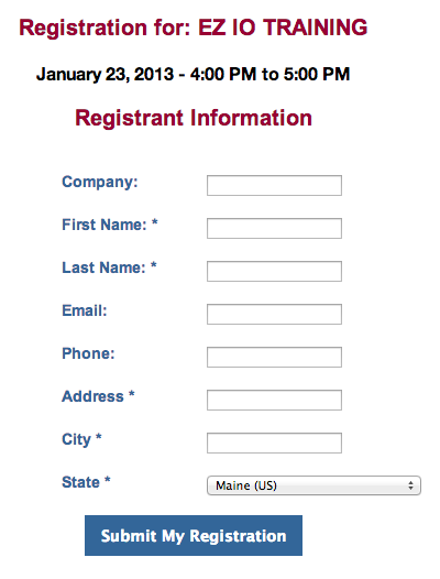 Branch CMS  Customer Registration Form Sample