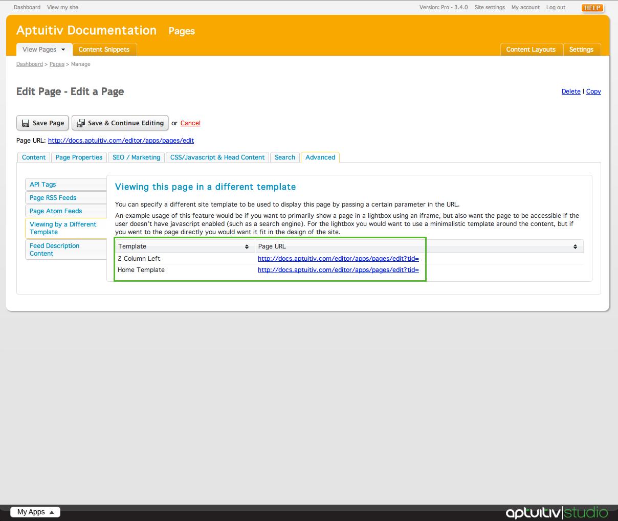 Edit a Page | Branch CMS Documentation