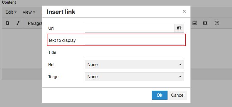Adding / Editing Links | Branch CMS Documentation